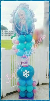 Princess Balloon Column