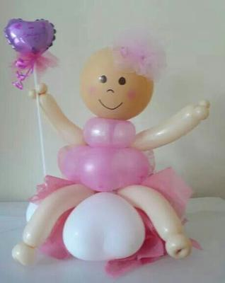 Balloon baby with rosy cheeks [Image found on Pinterest]