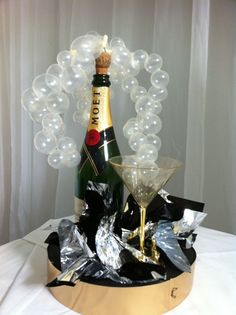 Champagne Bottle Balloon Decoration [Image found at Pinterest]