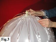 Hot air balloon model, step 3
