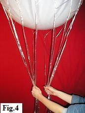 Hot air balloon model, step 4