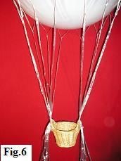 Hot air balloon model, step 6