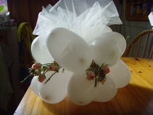 Just Married Balloon Centerpiece - Base
