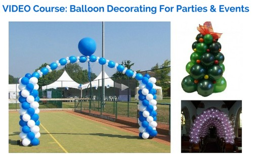 Balloon business start up kit for Balloon decoration courses