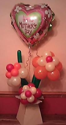 Balloon Flowers & Heart for Mother's Day