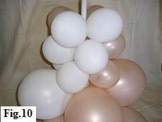 How to make a balloon column, step 10
