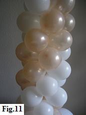 Spiral pattern on a balloon column