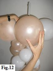 How to make a balloon column, step 12