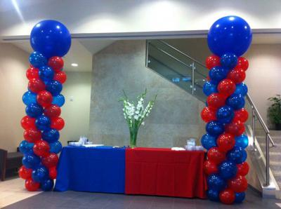 Balloon Columns with Toppers; Photo credit: ballooncityusa.com