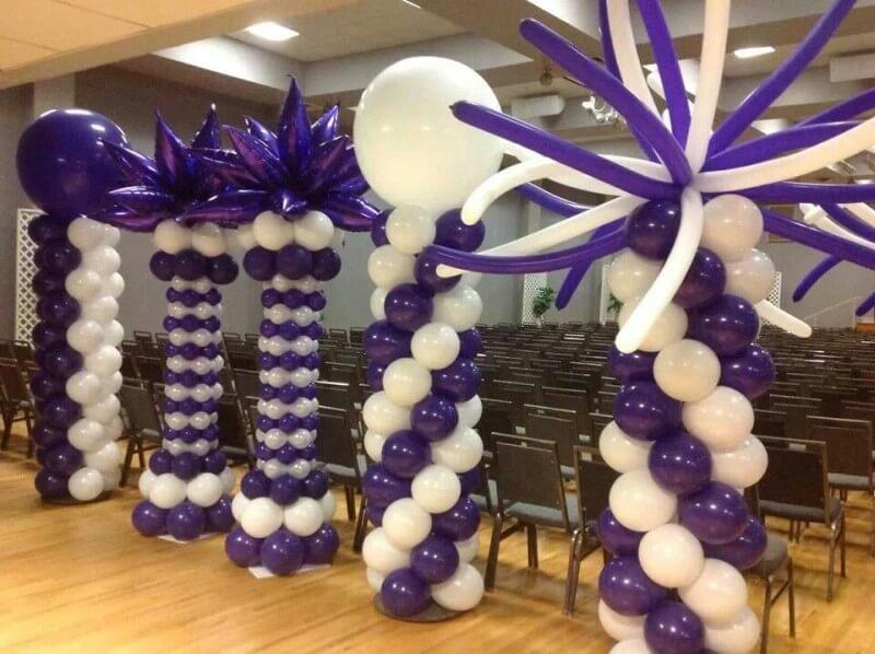 various balloon column designs