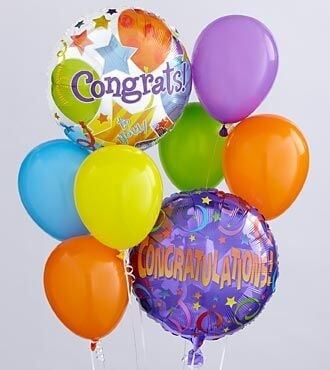 Say Congrats with this Balloon Bunch