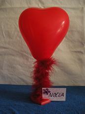 Marabou Balloon Heart