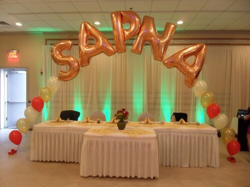 How to arrange balloon letters diy balloon decoration guide for Balloon string decorations