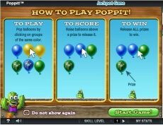 Balloon Popping Game Poppit