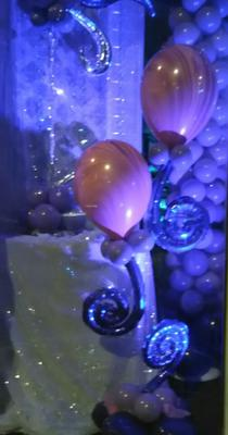 Uplighting adds a special touch to your balloons