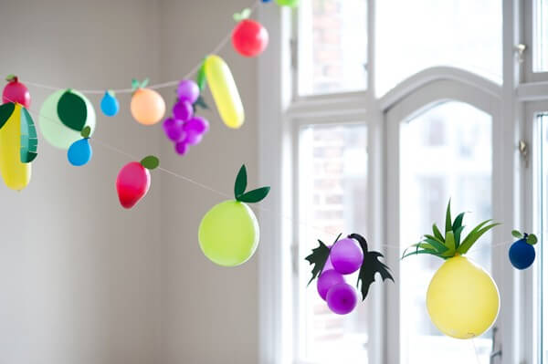 fruit balloon garland