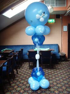 Christening Balloon Column