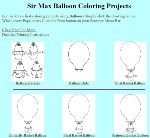 Hot Air Balloon Coloring Picture at PheeMcFaddell.com