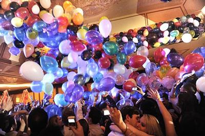 Balloon Drop at a Party [Image Source: Eventbrite.com]
