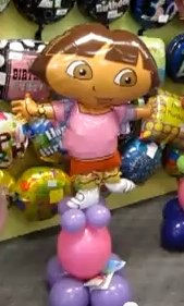 Dora The Explorer Balloon Sculpture (source: http://www.youtube.com/user/amyveltman)
