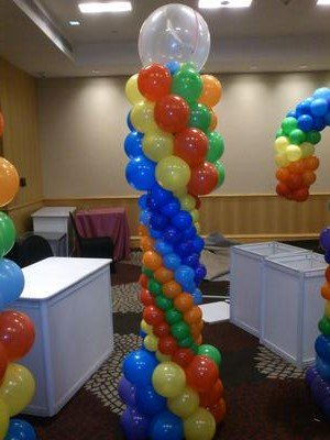 Multi-colored Balloon Column