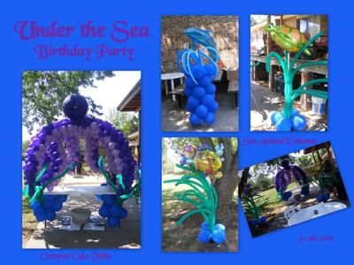 Under the Sea Themed Birthday Party