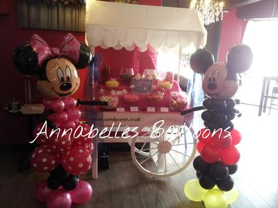 Mickey and Minnie Mouse Balloon Sculptures