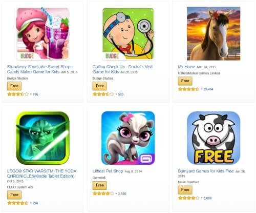 Online Games for Kids at Amazon