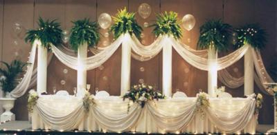 Combined Traditional and Balloon Wedding Decor