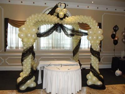 Balloon Canopy with Tulle & Lights