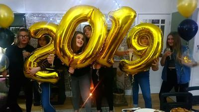 Celebrating New Year with Balloon Letters