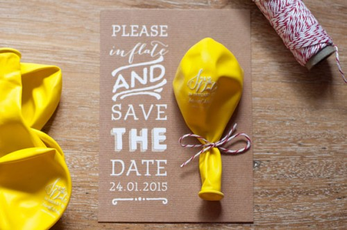 Save the Date Ideas: Balloons