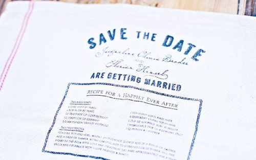 Save the Date Ideas: Tea Towel
