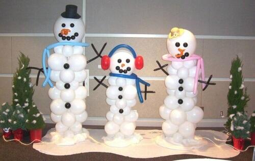 Snowman Balloon Sculptures