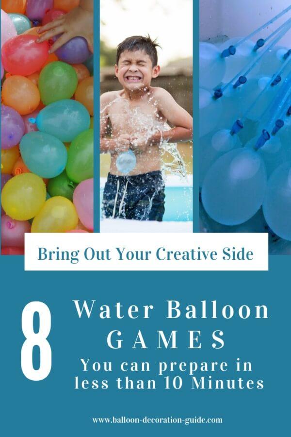 8 Water Balloon Games Ideas